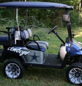 Dallas Cowboys Inspired Lifted X-Series Custom Golf Cart