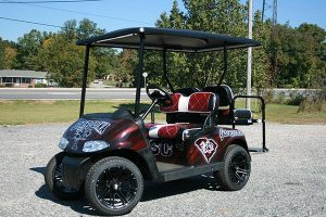 Gamecock Themed Custom EZ-GO RXV Golf Cart