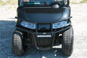 Black with Turquoise Seats Custom EZ-GO RXV Electric Golf Cart