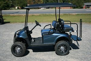 Blue Pearl Lifted Custom EZ-GO RXV Golf Cart