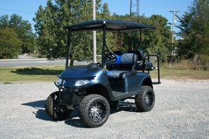 Blue Pearl Custom Lifted EZ-GO RXV Golf Cart