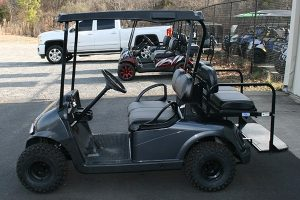 Charcoal All-Terrain Used EZ-GO RXV Golf Cart