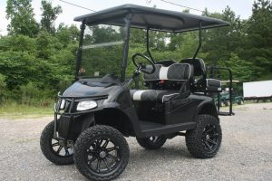 Black Metallic Custom Lifted Golf Cart