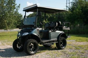 Charcoal Metallic Night Hawk EZ-GO RXV Custom Golf Cart