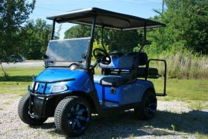 Custom Viper Blue Metallic E Z-GO RXV Low-Profile Golf Cart