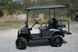 Flat Black Metallic EZ-GO RXV Custom Golf Cart