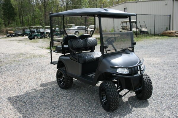 Flat Black Metallic Custom EZ-GO Golf Cart