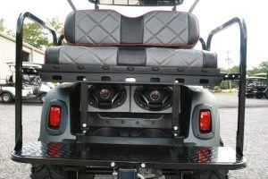 Flat Charcoal Red Accent Seats EZ-GO RXV Custom Golf Cart