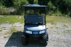 Gloss Charcoal with Blue Pearl-Tinted Coating Custom EZ-GO RXV Golf Cart