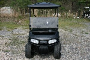 Tuxedo Black with Charcoal and Black Seats Custom EZ-GO Golf Cart