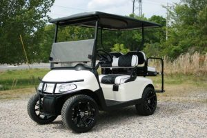 Gloss White Custom EZ-GO Golf Cart