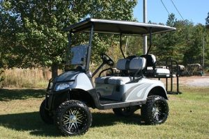 Ice Storm Lifted EZ-GO RXV Silver Charcoal Golf Cart