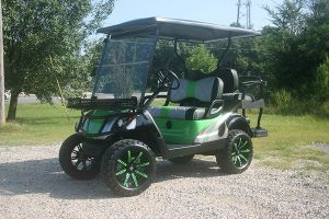 Lime Green Silver Black Yamaha Drive Golf Cart