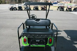 Lime Green Standard Lowered Custom EZ-GO RZV Golf Cart