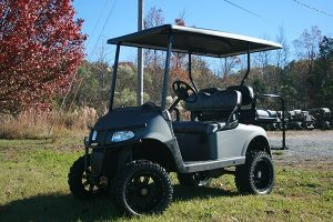 Matte Charcoal Custom Lifted EZ-GO RXV Golf Cart