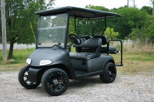 Matte Charcoal Cart and Seats EZ-GO RXV Custom Golf Cart