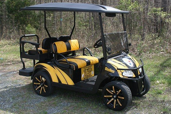 Pittsburg-Steelers-Inspired Custom EZ-GO Golf Cart