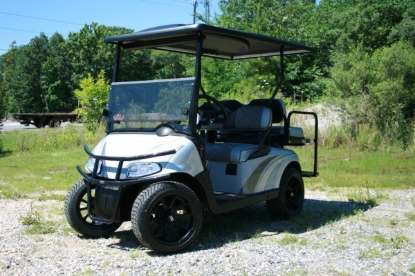 Silver Charcoal Grey Custom Low Profile EZ-GO Golf Cart