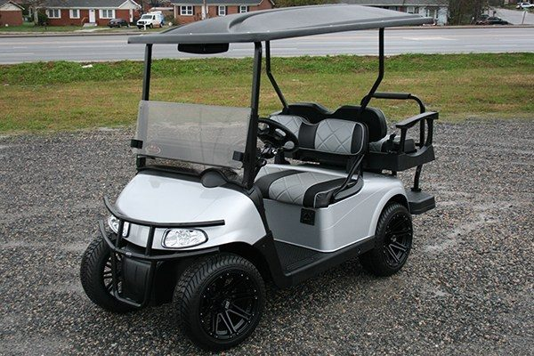 Silver Metallic EZ-GO Golf Cart