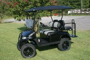 Jet Black with Custom Seats EZ-GO RXV Golf Cart