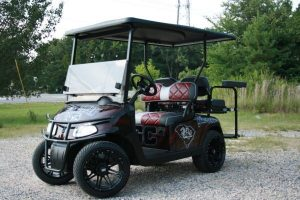 South Carolina Gamecocks Inspired Custom EZ-GO RXV Golf Cart