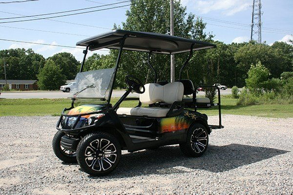Sunset Island Themed Drive Yamaha Custom Cart