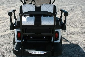 Pearl White with Black and White Seats Used EZ-GO RXV Golf Cart