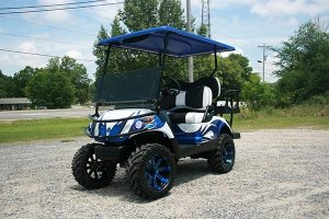 Yamaha Custom Golf Cart Fusion Blue and White